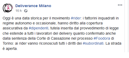 deliverancemilano